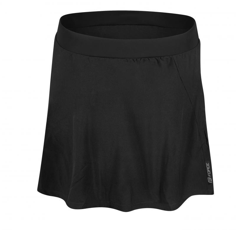 Force Daisy sukně do pasu s vložkou černá - L