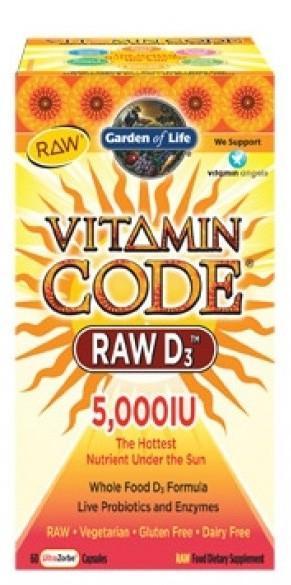 Garden of Life Vitamin D3 RAW 5000IU 60 kapslí