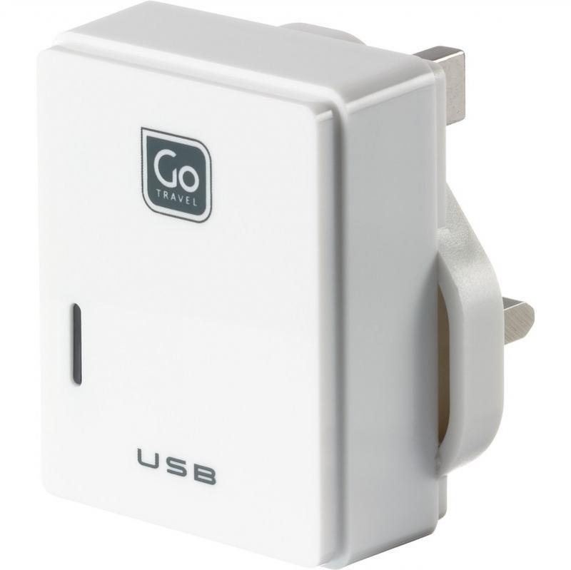 Go Travel USB nabíječka s micro USB a konektorem pro UK