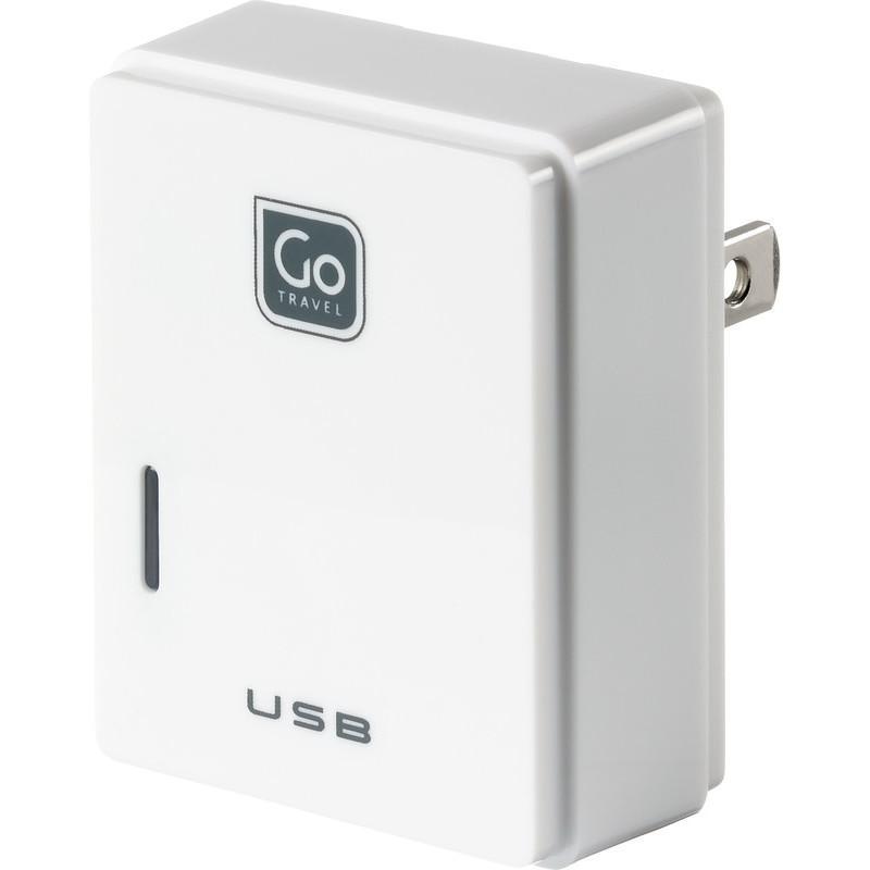 Go Travel USB nabíječka s micro USB a konektorem pro USA