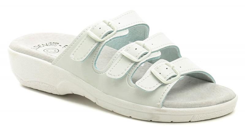 Golden Fit 10003 bílé dámské zdravotní pantofle  d5a58d9e42