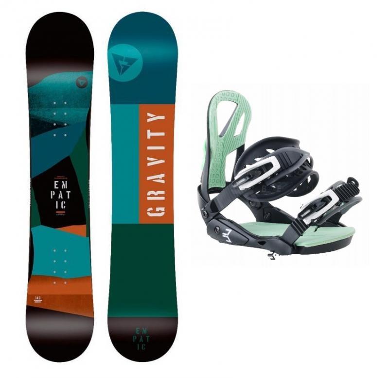 Gravity Empatic Jr 19/20 dětský snowboard + Beany Teen vázání - 130 cm