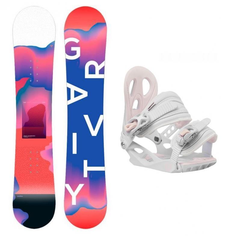 Gravity Fairy 19/20 dětský snowboard + Gravity G1 Jr white vázání - 130 cm + M (< EU 38 )