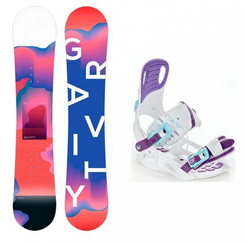 Gravity Fairy 19/20 dětský snowboard + Raven Starlet White vázání - 130 cm + S (EU 35-39)