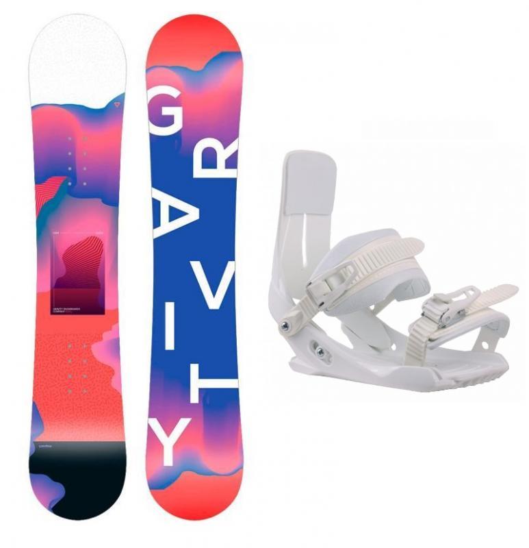 Gravity Fairy 19/20 dětský snowboard + Sp Junior 180 White vázání - 130 cm