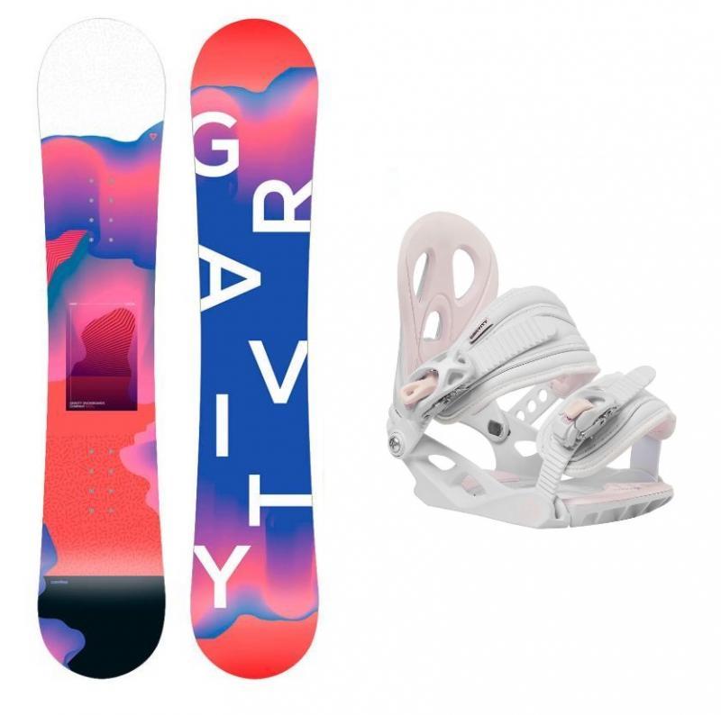 Gravity Fairy mini 19/20 dětský snowboard + Gravity G1 Jr white vázání - 110 cm + M (< EU 38 )