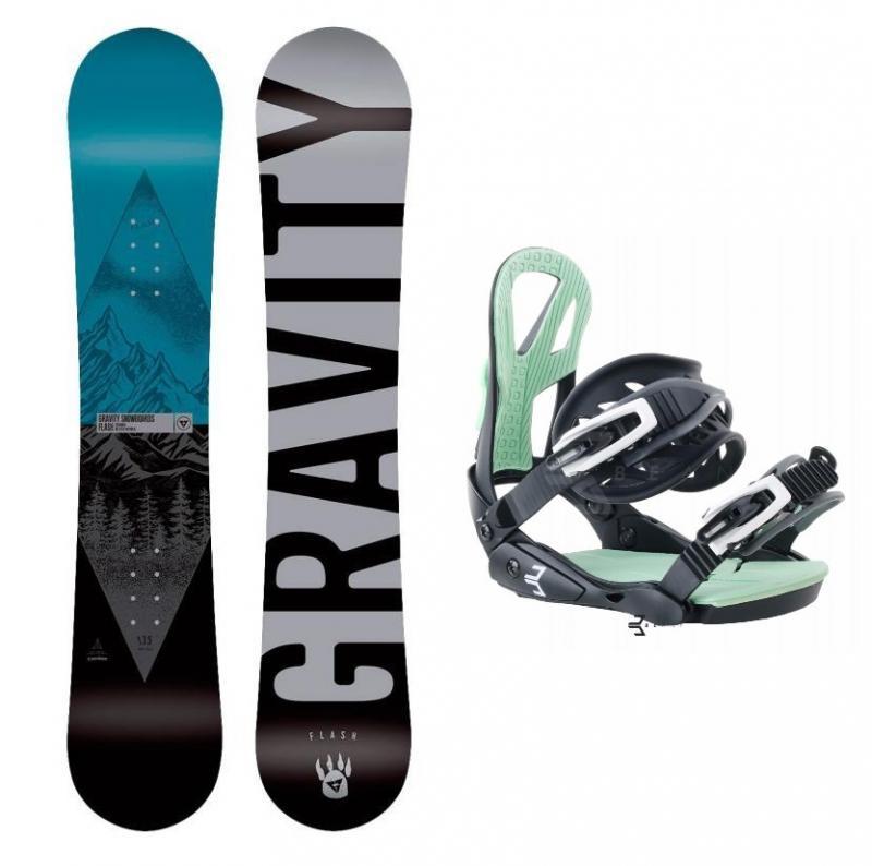 Gravity Flash 19/20 dětský snowboard + Beany Teen vázání - 130 cm