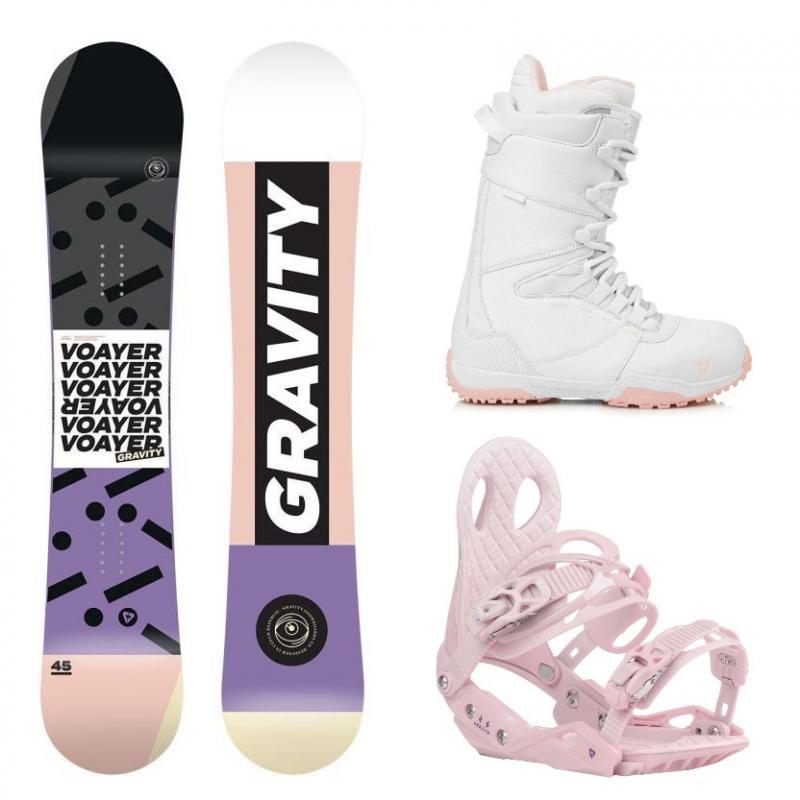 015d78979 Gravity Voayer 18/19 dámský snowboard + vázání Gravity G2 Lady + boty  Gravity (