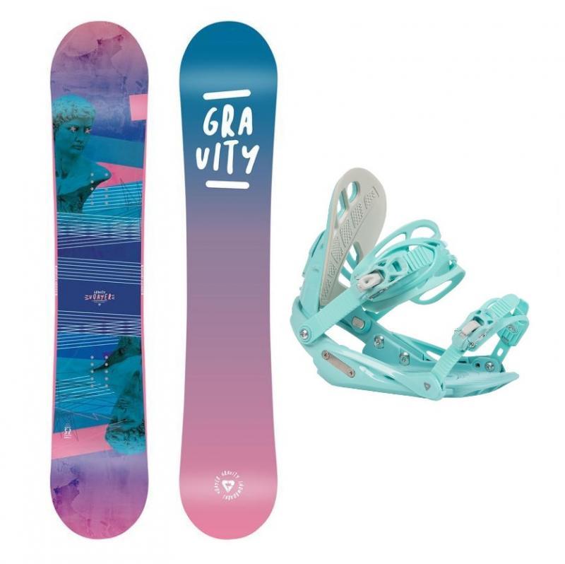 Gravity Voayer 20/21 dámský snowboard + Gravity G1 Lady mint 20/21 vázání - 142 cm + M (EU 38-42)