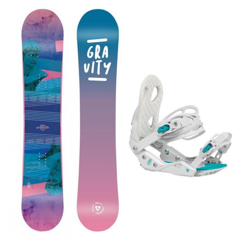 Gravity Voayer 20/21 dámský snowboard + Gravity G2 Lady white 20/21 vázání - 142 cm + M (EU 38-42)