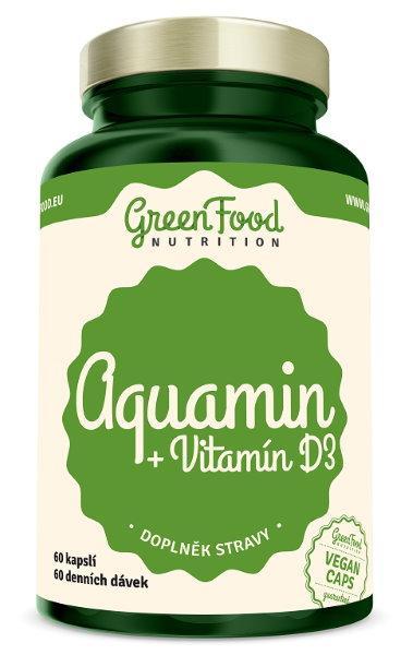 GreenFood Aquamin + Vitamín D3 60 kapslí