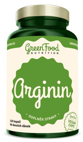 GreenFood Arginin vegan 120 kapslí