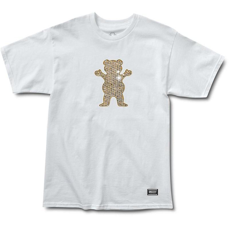 Grizzly Biebel Pro Bear Tee White (WHT) triko - L