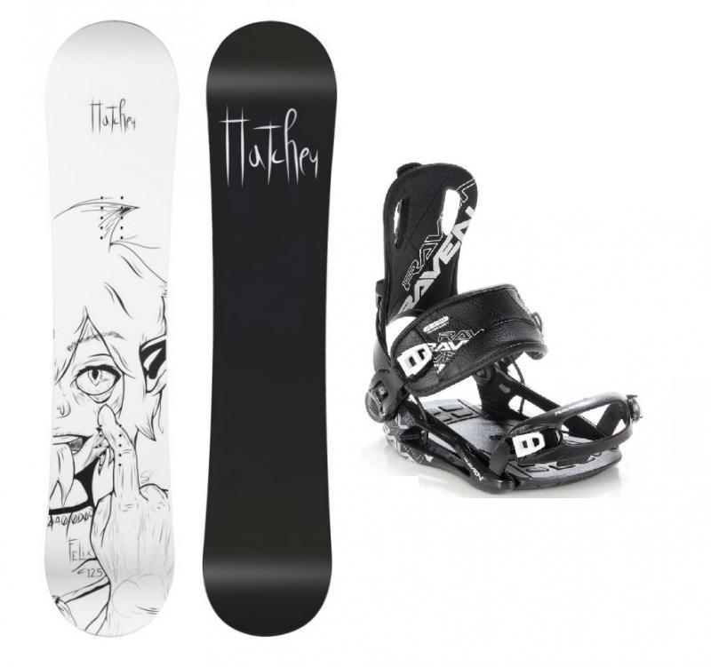 Hatchey Felix juniorský snowboard + Raven Fastec FT 270 black vázání - 125 cm + L (EU 42-44)