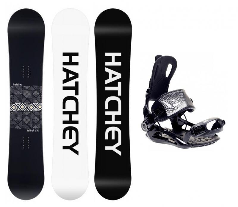 Hatchey Tribal snowboard + SP FT270 black vázání - 160 cm + S (EU 36-39), black