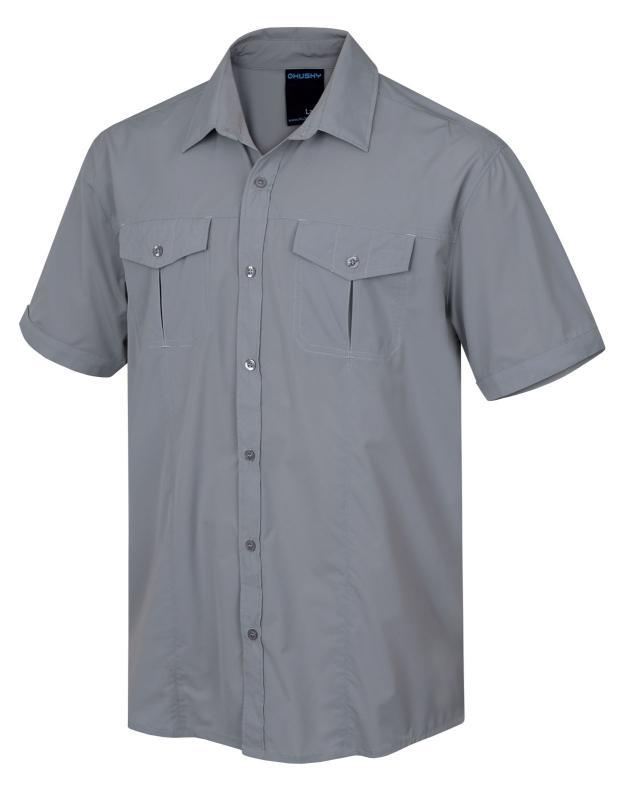 Husky Gomy M sv. šedá pánská košile - L