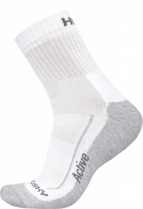 Husky Active bílé ponožky - M (36-40)