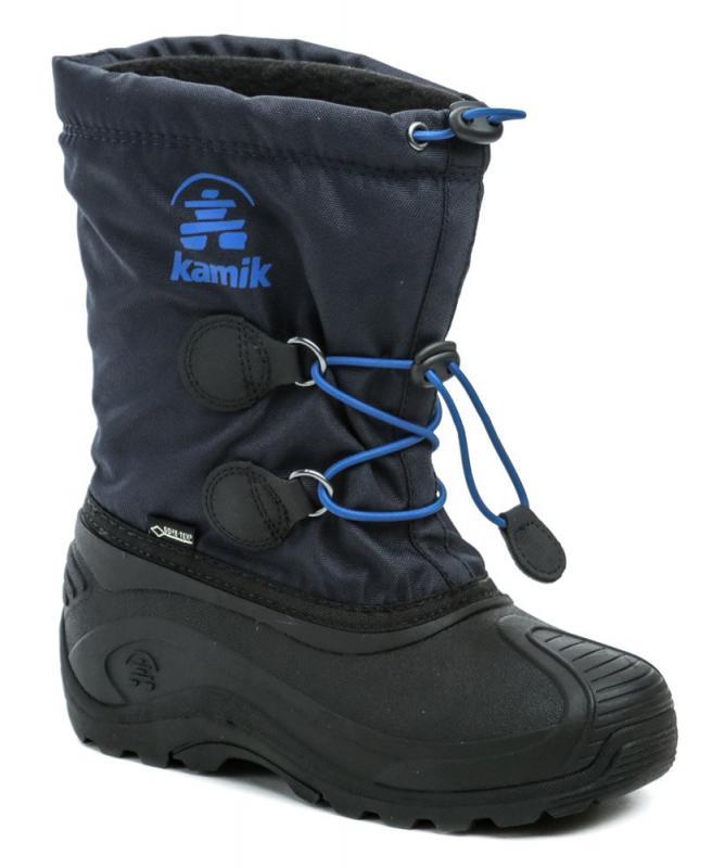 Kamik INSIGHT GTX modré dětské zimní sněhule Gore-Tex - 33/34