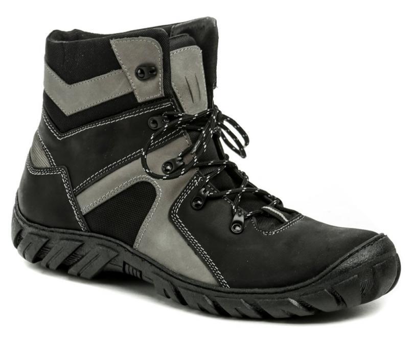 Koma 1052 černo-šedé pánské nadměrné boty - EU 48