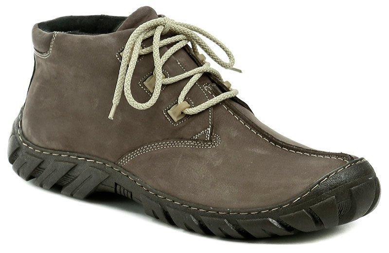 Koma 80 hnědé pánské nadměrné zimní boty - EU 49