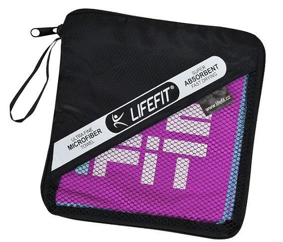 Lifefit Rychleschnoucí ručník z mikrovlákna 105x175cm, fialový