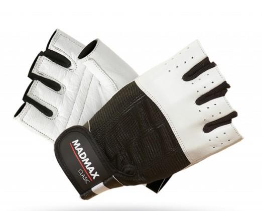 MadMax rukavice Clasic MFG248 bílé - L