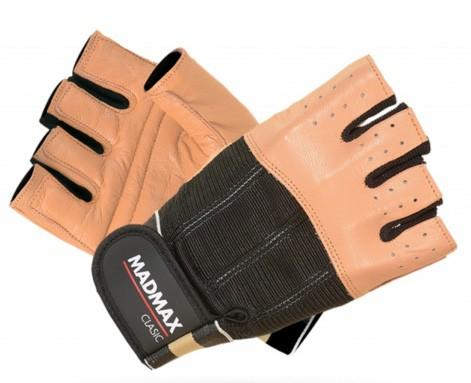 MadMax rukavice Clasic MFG248 hnědé - XL