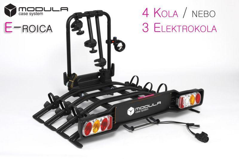 Modula E-ROICA - 4 kola / 3 elektrokola na tažné zařízení + adaptér el. přípojky Zdarma
