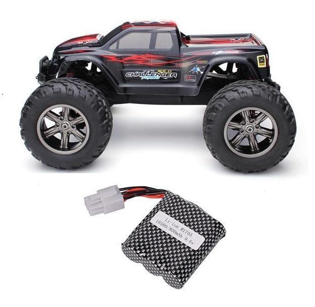 Monster 1/12, 2WD, 38km/h, 2,4Ghz - červený + 1x aku 800mAh + 1x Adaptér pro 2 akumulátory