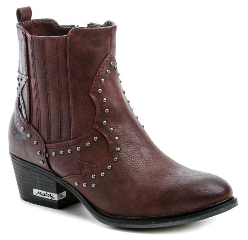 Mustang 1346-502-55 bordó dámské zimní boty - EU 39