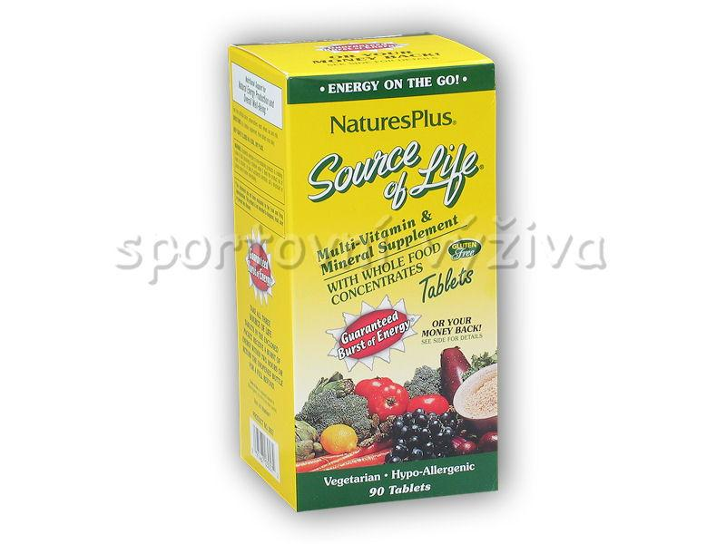 Natures Plus Source of Life Multi-Vitamin + Mineral 90 tb. + CellEx Unlimited Sachets 26g akce