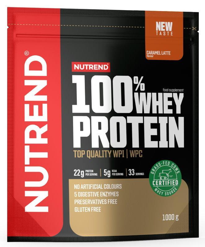 Nutrend 100% Whey Protein 1000 g - ledová káva