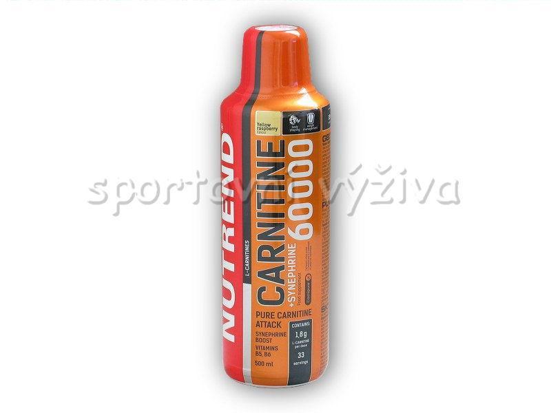 Nutrend Carnitin 60000 + Synephrine 500ml - žlutá malina