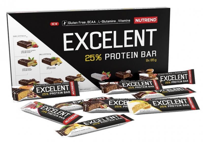 Nutrend Excelent Protein Bar 9x85g dárkové balení