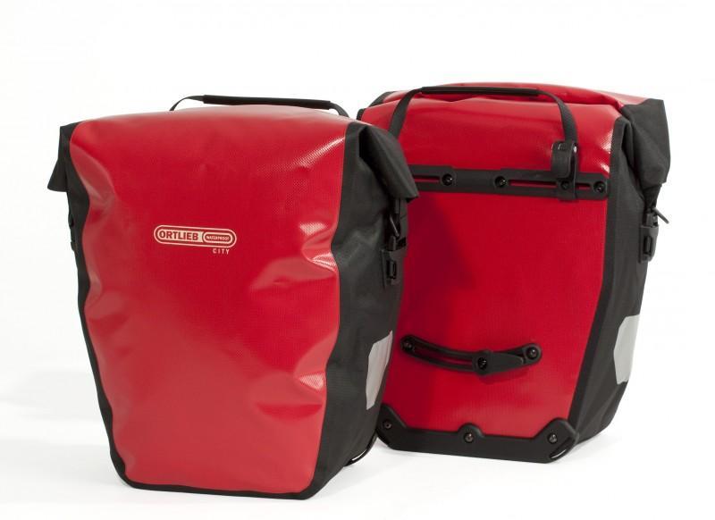 Ortlieb Back-roller City vodotěsné zadní brašny - červená