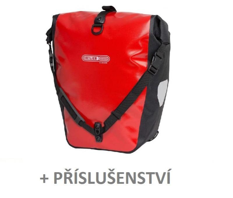 Ortlieb Back-roller Classic vodotěsné zadní brašny + příslušenství 3 ks - červená