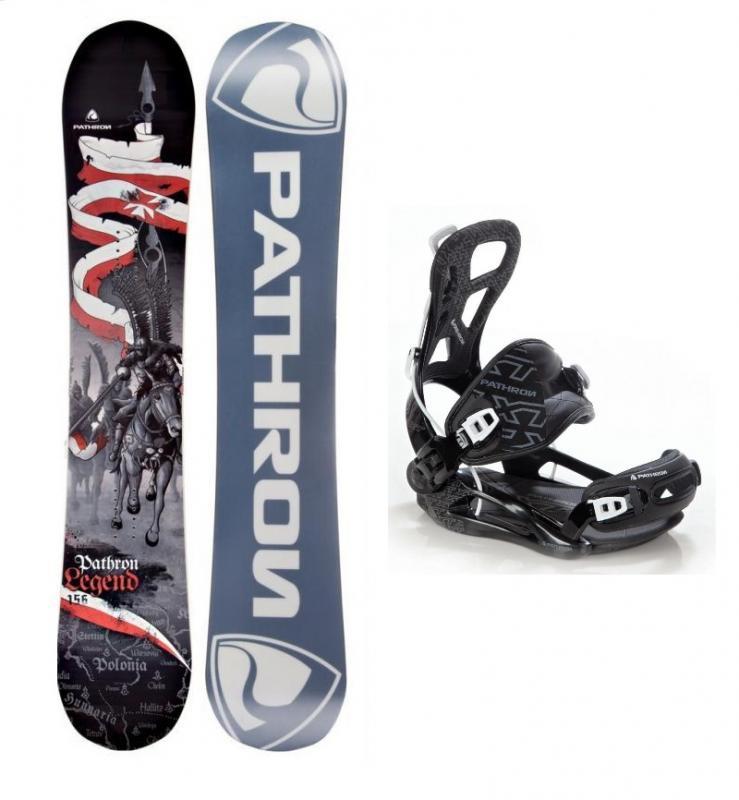Pathron Legend snowboard + Pathron XT black vázání - 160 cm Wide + L (EU 42-44)