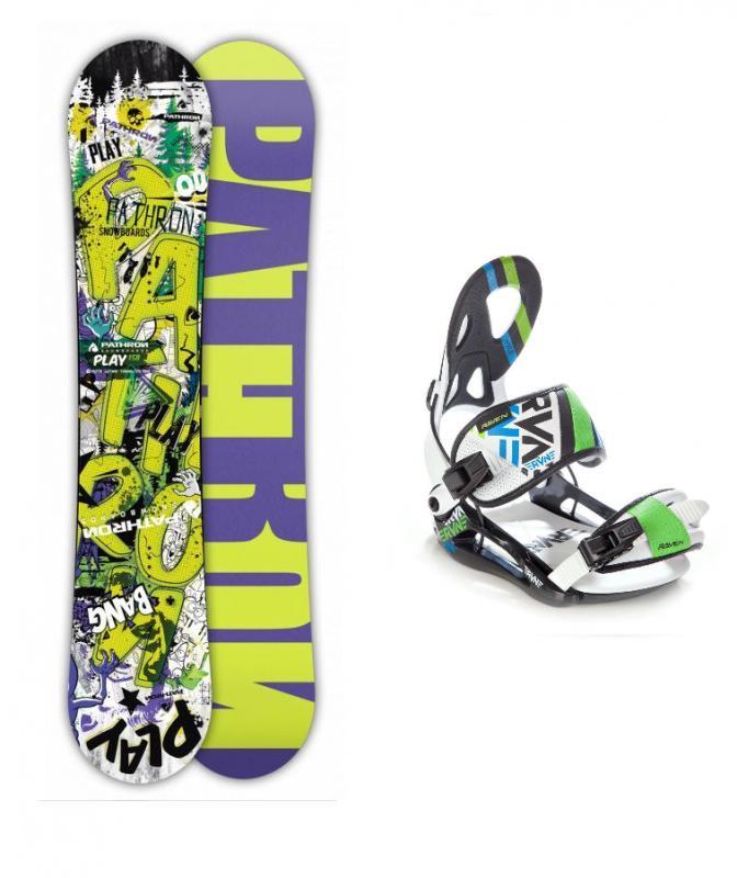 Pathron Play + vázání Raven S250 white snowboardový set - 156 cm + XL (EU 43-46)