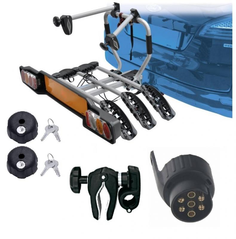 Peruzzo SIENA 3 kola nosič na tažné zařízení + 2x zámek nosiče + držák 1.kola + adaptér el. přípojky