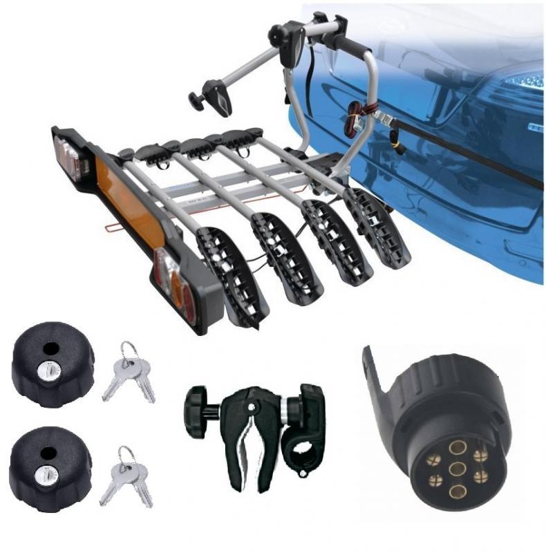 Peruzzo SIENA 4 kola nosič na tažné zařízení + 2x zámek nosiče + držák 1.kola + adaptér el. přípojky