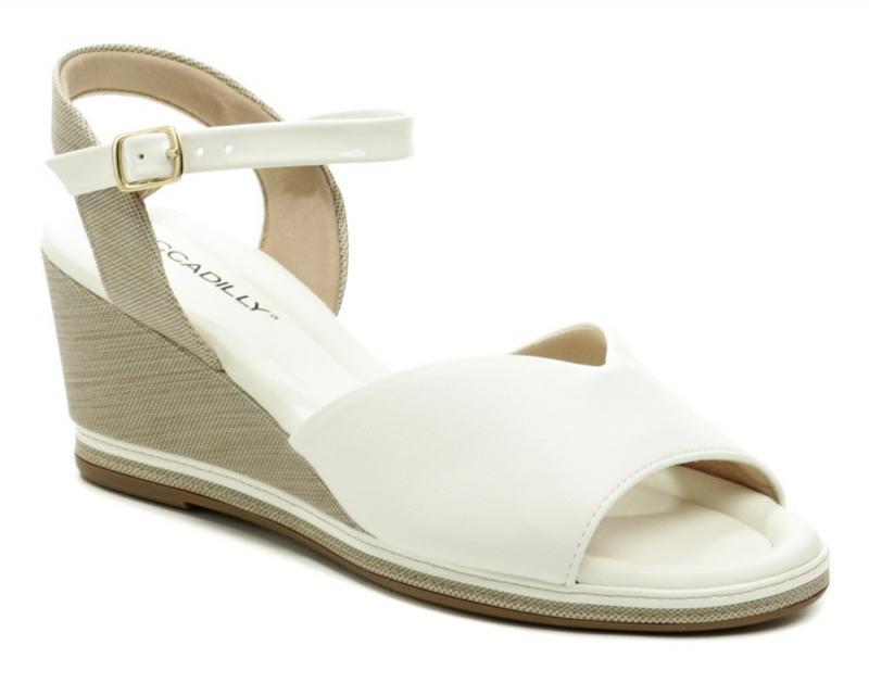 Piccadilly 408167-4 bílé dámské sandály na klínku - EU 41
