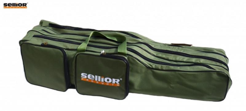 Pouzdro na pruty Sellior 100cm, 3 komory