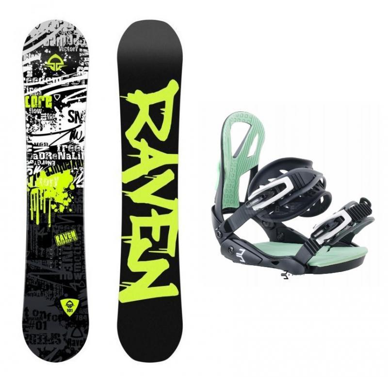 Raven Core Junior Cap 2018 dětský snowboard + vázání Beany Teen - 138 cm