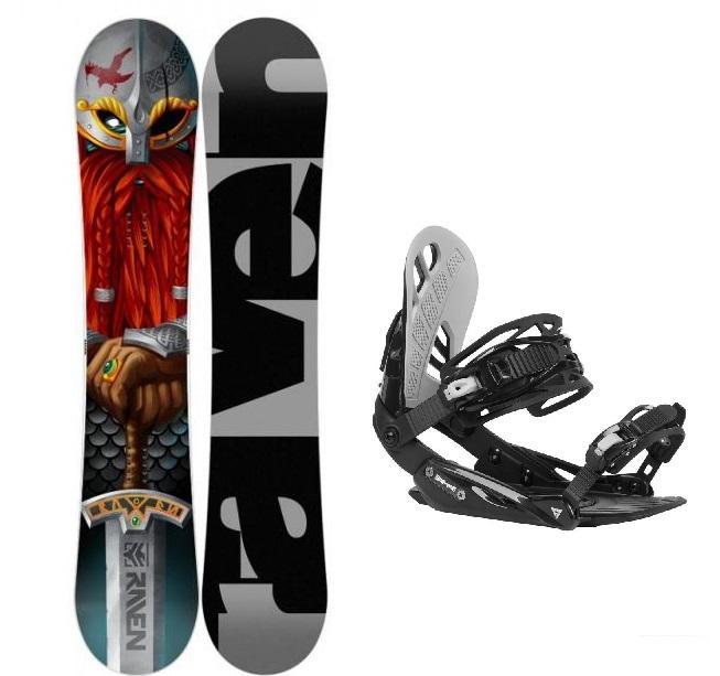 Raven Dwarf pánský snowboard + Gravity G1 black/light grey vázání - 150 cm + M (EU 39,5-41,5)