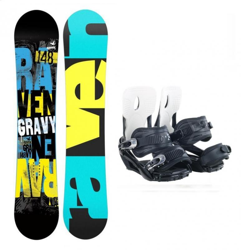 Raven Gravy 2019/20 dětský snowboard + Beany Lucky vázání - 110 cm + S (EU 37-40)