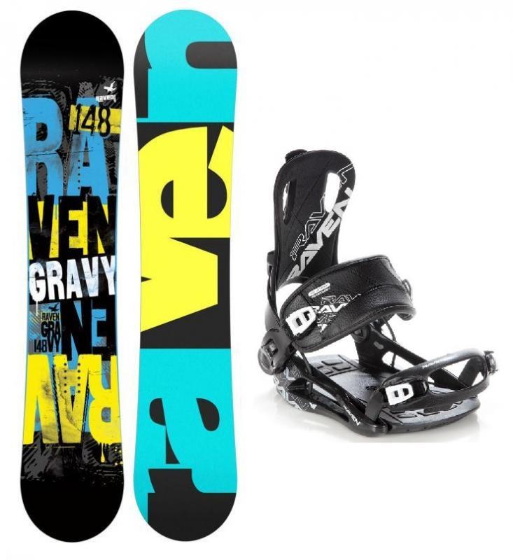 Levně Raven Gravy 2019/20 snowboard + vázání Raven FT 270 black - 152 cm Wide + S (EU 35-40)