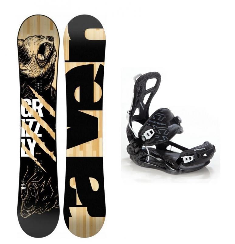 Raven Grizzly snowboard + vázání Pathron XT black - 156 cm + L (EU 42-44)