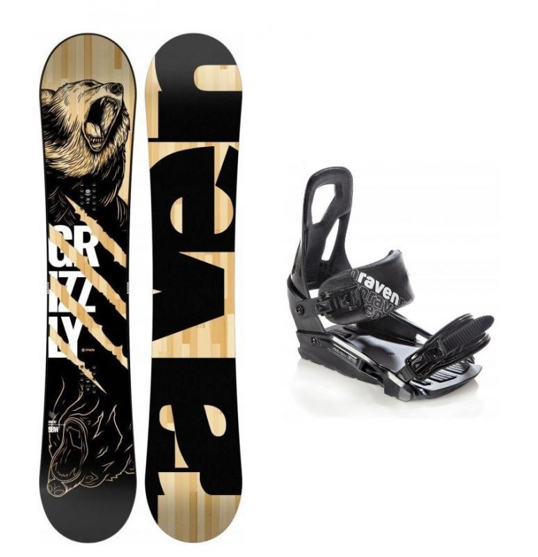 Raven Grizzly snowboard + vázání Raven S200 black - 156 cm + S/M (EU 37-41)