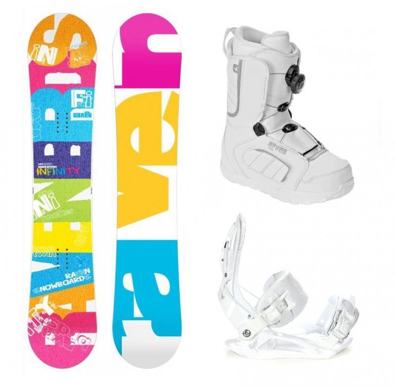 Raven Infinity 2019 snowboard + vázání Raven Luna + boty Raven (výhodný set) - 141 cm + S (EU 35-38)