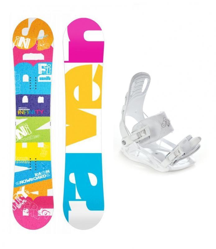 Raven Infinity 2019 + vázání Raven Luna dámský snowboard set - 141 cm + S (EU 35-38)